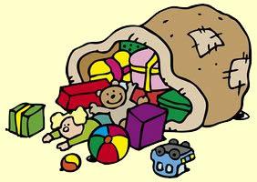 Een zak vol speelgoed